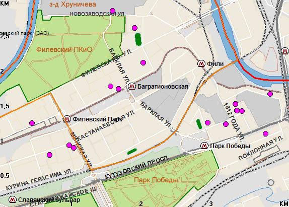 Радиация в Москве: Фили - Парк